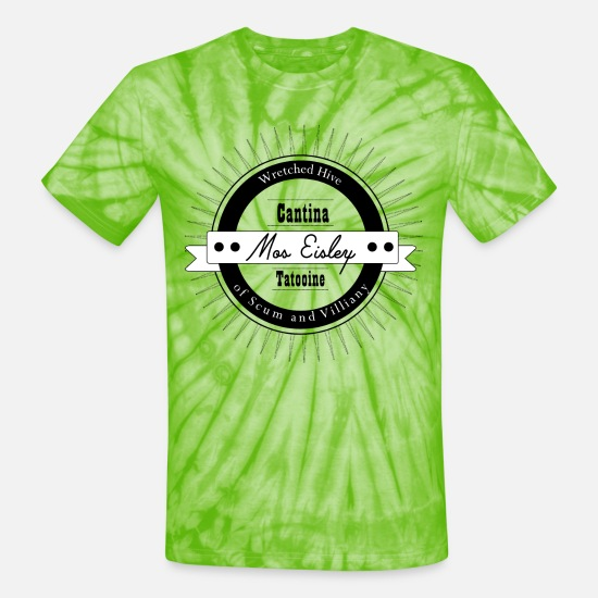 Tatooine T-Shirts - Mos Eisley Cantina - Unisex Tie Dye T-Shirt spider lime green