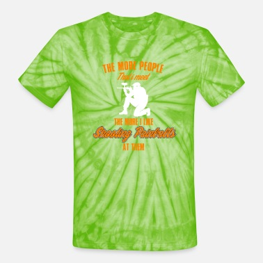Paintball Airsoft - Funny Shooting Paintballs - Unisex Tie Dye T-Shirt
