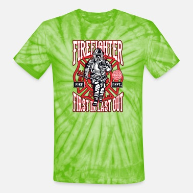 First Responders Firefighter Maltese Cross First Responders - Unisex Tie Dye T-Shirt