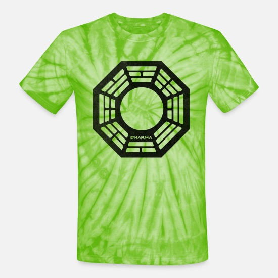 Glass T-Shirts - Dharma - Pearl - Unisex Tie Dye T-Shirt spider lime green