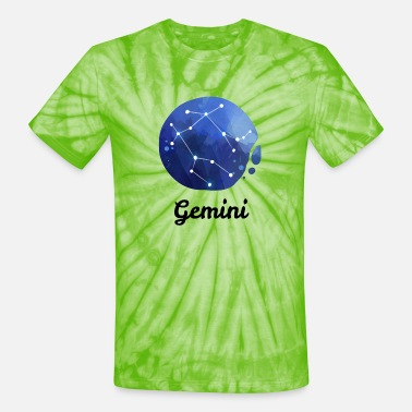 Constellation Gemini Zodiac Sign Constellations Astrology Gift - Unisex Tie Dye T-Shirt