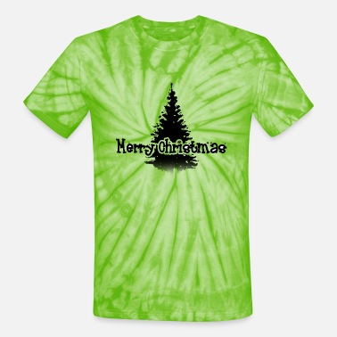 Merry Christmas tree xmas present shirt snow - Unisex Tie Dye T-Shirt