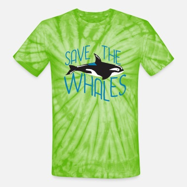Save The Whales Save the Whales - Unisex Tie Dye T-Shirt
