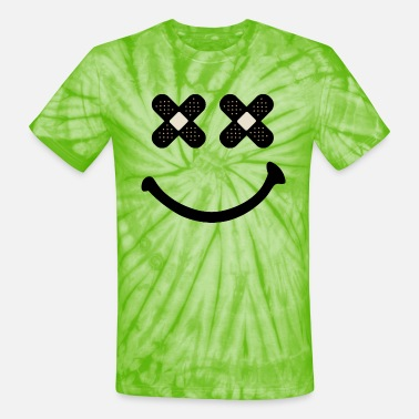 Hardstyle Happy Smiley Face - Unisex Tie Dye T-Shirt