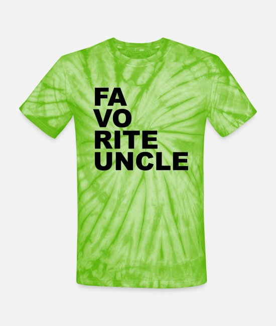 Favorite T-Shirts - Favorite uncle - Unisex Tie Dye T-Shirt spider lime green