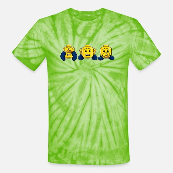 Kids T-Shirts - Three Wise Minis (kids) - Unisex Tie Dye T-Shirt spider lime green