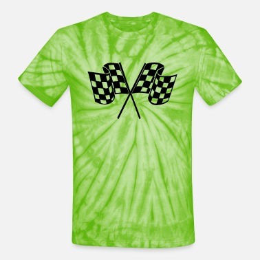 Racing Flags Racing Flags - Unisex Tie Dye T-Shirt