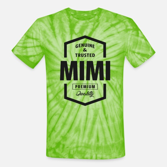 Mimi T-Shirts - Mimi Genuine - Unisex Tie Dye T-Shirt spider lime green