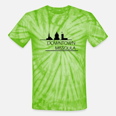Downtown Missoula - Unisex Tie Dye T-Shirt