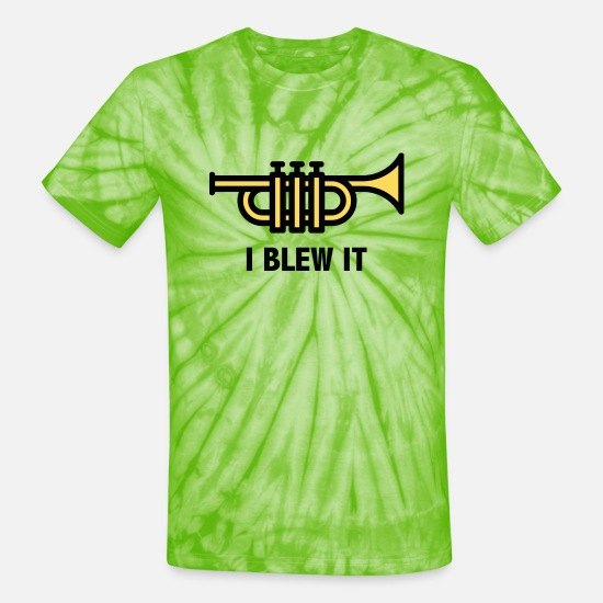 Musical T-Shirts - I Blew It - Unisex Tie Dye T-Shirt spider lime green