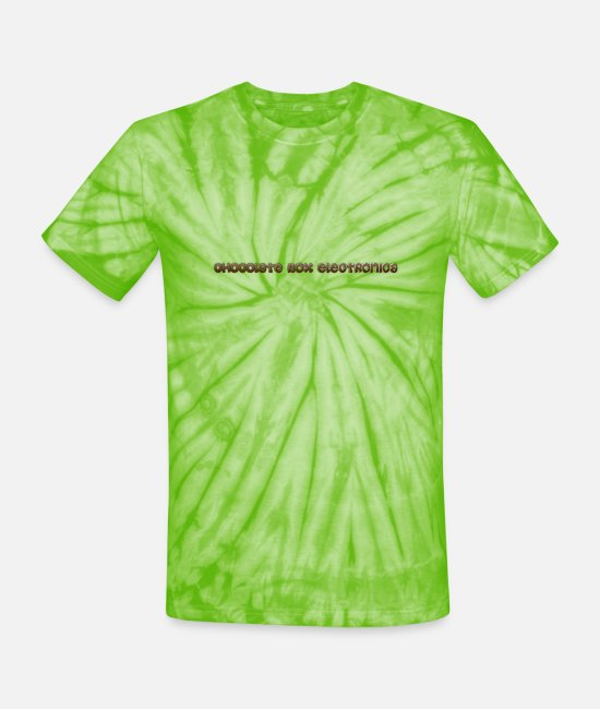 Musical T-Shirts - chocolate box electronica - Unisex Tie Dye T-Shirt spider lime green