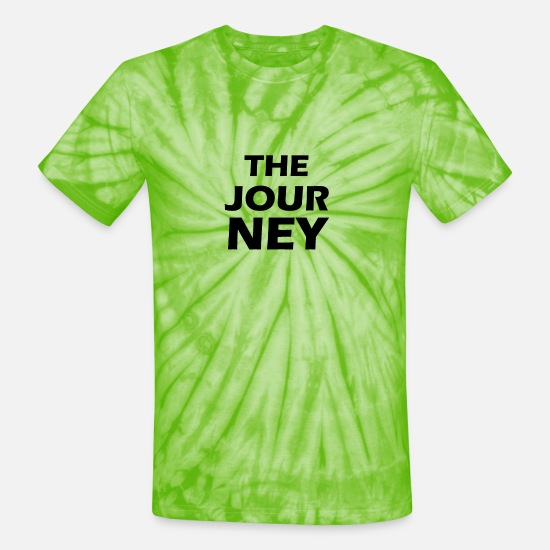 Stupid T-Shirts - the journey - Unisex Tie Dye T-Shirt spider lime green