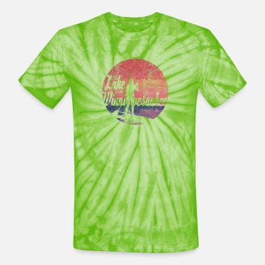Lake Winnipesaukee Paddle Board Tee Shirt - Unisex Tie Dye T-Shirt