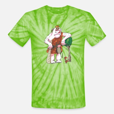 Dwarves A cool giant with his dwarves - Unisex Tie Dye T-Shirt