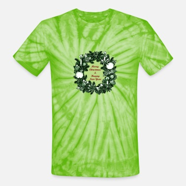 Artubble Merry Christmas and Happy New Year - Unisex Tie Dye T-Shirt