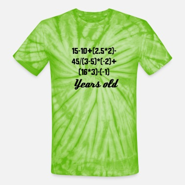 14 14 Years Old Algebra Equation - Unisex Tie Dye T-Shirt