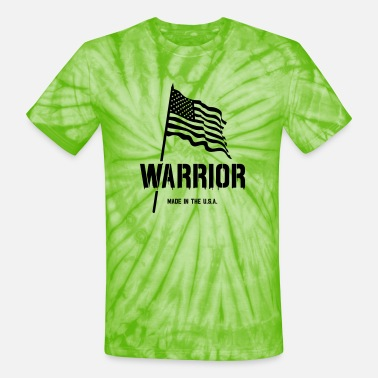 warrior - made in the usa - Unisex Tie Dye T-Shirt