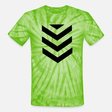 Chevron Stripes - Unisex Tie Dye T-Shirt