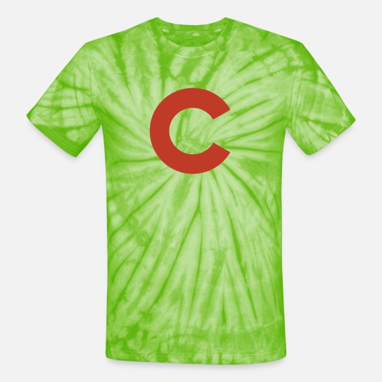 Baseball T-Shirts - Reds - Unisex Tie Dye T-Shirt spider lime green