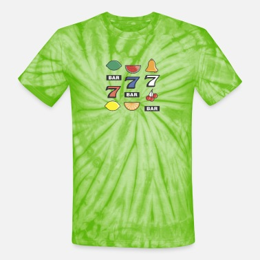 Machine Slot Machine Bars - Unisex Tie Dye T-Shirt