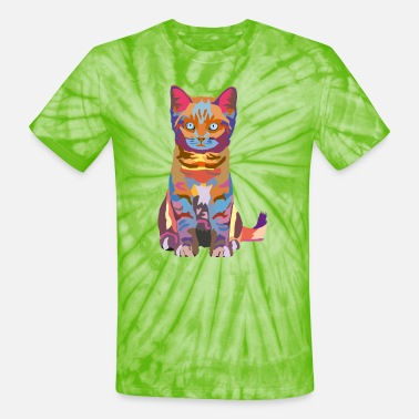 Awesome Fresh Hipster Stlye Fat Create Your Own wpap kitten - Unisex Tie Dye T-Shirt