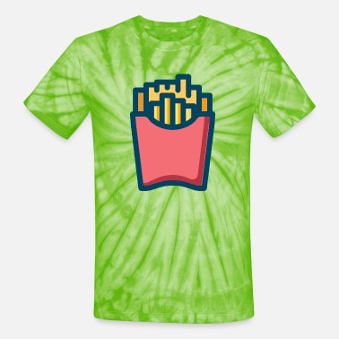 French Roast french fries - Unisex Tie Dye T-Shirt