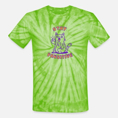 Pawsitive Stay pawsitive - Unisex Tie Dye T-Shirt