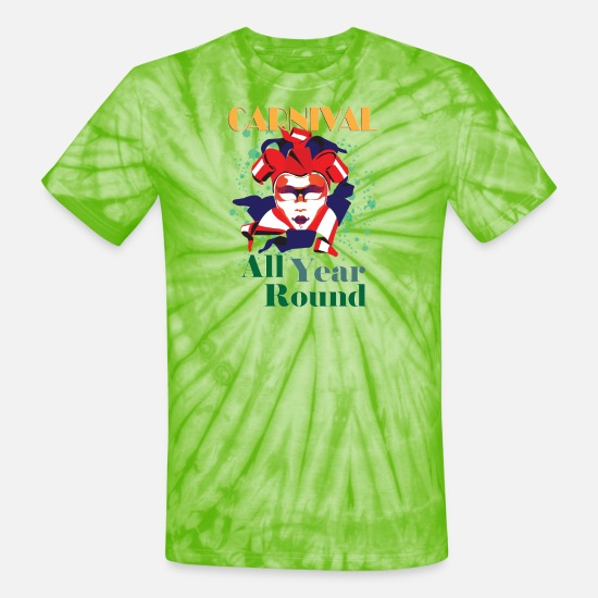Theme T-Shirts - Carnival All Year - Unisex Tie Dye T-Shirt spider lime green