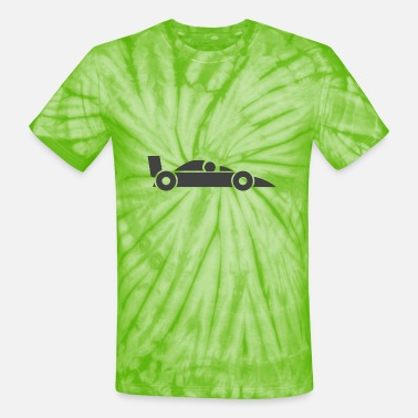 Streaker Racing Car Icon - Unisex Tie Dye T-Shirt