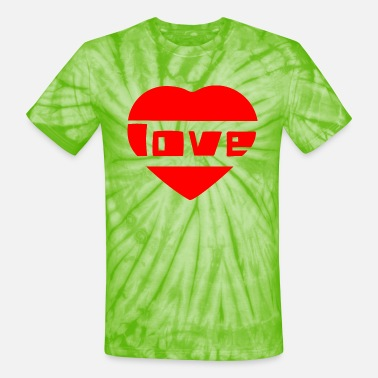 Love With Heart love with heart - Unisex Tie Dye T-Shirt