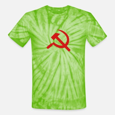 Hammer And Sickle Hammer and Sickle - Unisex Tie Dye T-Shirt