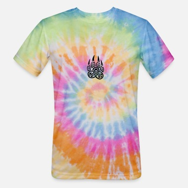 Bear Paw Celtic Bear Paw - Unisex Tie Dye T-Shirt