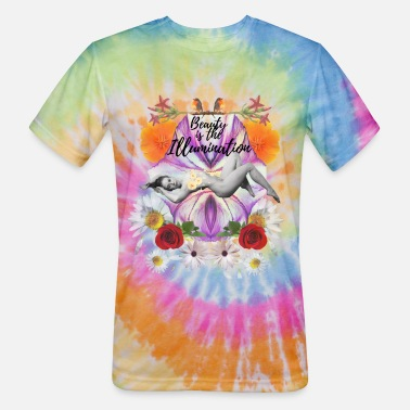 Thicker Beauty is the illumination Short-Sleeve Unisex - Unisex Tie Dye T-Shirt