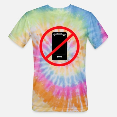 Mobile Phone Vector no mobile phones sign - Unisex Tie Dye T-Shirt