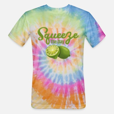 Lime Lime Squeeze The Day - Unisex Tie Dye T-Shirt