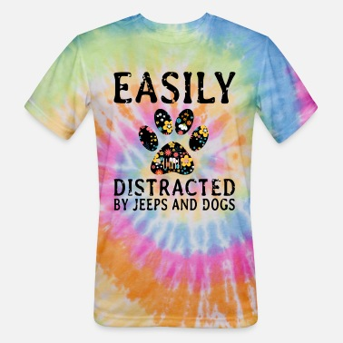 earily distracted by jeep and dogs t shirts Men's Ringer T