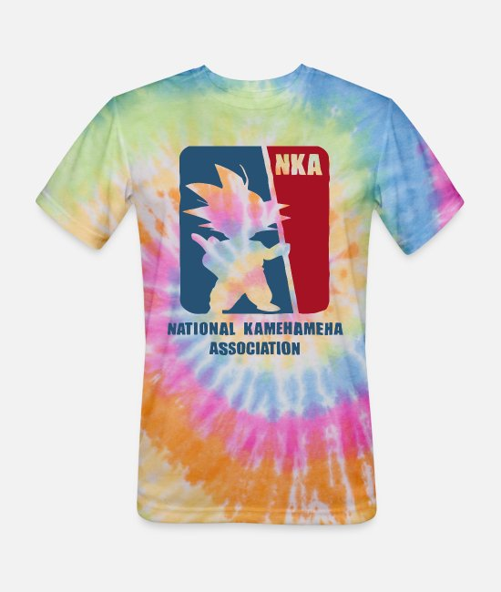Ball T-Shirts - National Kamehameha Association Dragon Ball Z Goku - Unisex Tie Dye T-Shirt rainbow
