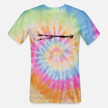 Barbed Wire barb wire - Unisex Tie Dye T-Shirt