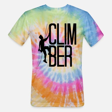 Summit cool mountains summit climber text climber climbin - Unisex Tie Dye T-Shirt
