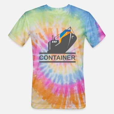 Container Container Ship - Unisex Tie Dye T-Shirt