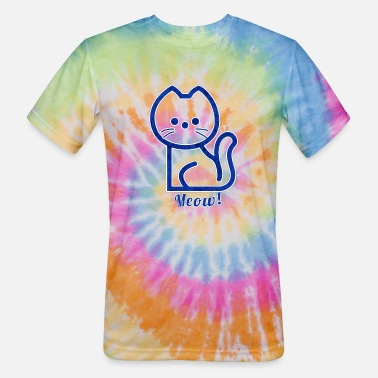 Blue Kitty - Unisex Tie Dye T-Shirt