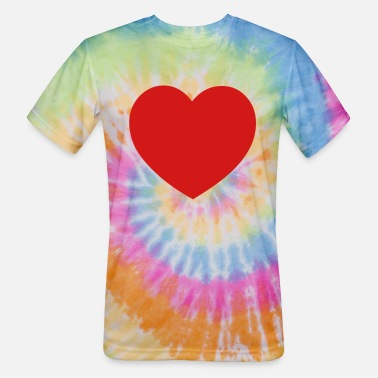 Heart Best Heart Design - Unisex Tie Dye T-Shirt