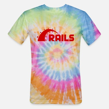 Rails Ruby On Rails Logo - Unisex Tie Dye T-Shirt