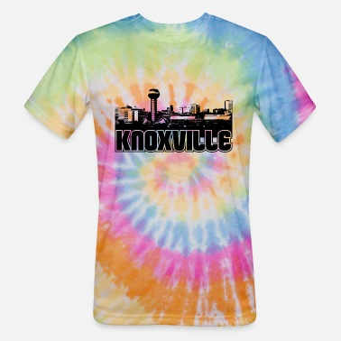 Knoxville Knoxville Skyline - Unisex Tie Dye T-Shirt