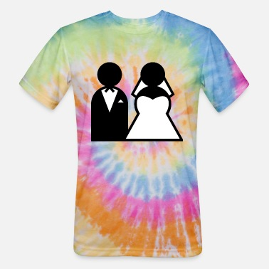 Wedding Dress wedding - Unisex Tie Dye T-Shirt
