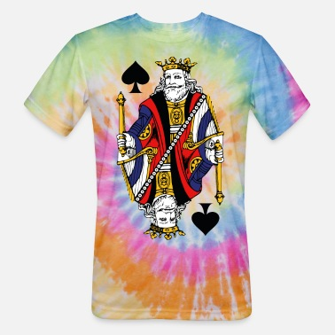 Cards Vintage King Of Spades - Unisex Tie Dye T-Shirt