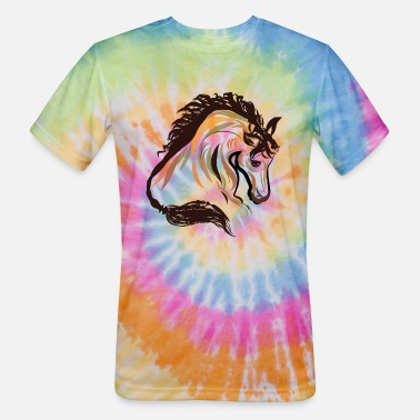 horse head painting art | horse head t-shirt - Unisex Tie Dye T-Shirt