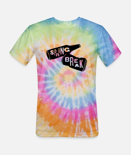 Party T-Shirts - Spring Break - Spring Break - Unisex Tie Dye T-Shirt rainbow