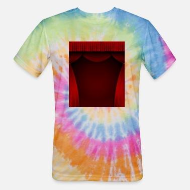 Curtain Red curtain background - Unisex Tie Dye T-Shirt