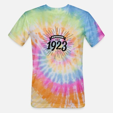 1923 Awesome since 1923 - Unisex Tie Dye T-Shirt